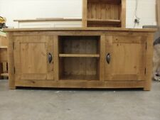 RECLAIMED 150CM WIDE PLASMA TV UNIT HAND MADE RUSTIC BESPOKE SIZES COLOURS
