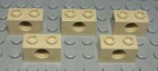 Lego Technic Lochstein 1x2 Beige 5 Stück                                  (2385)