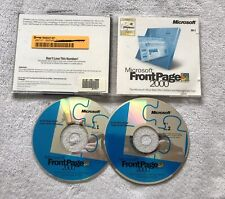 Microsoft FrontPage 2000 Retail Full Version CD & Key for Windows