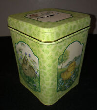 Vintage 1980 Bankland Collector Tin Bank Spring Summer Baby Animals Nature