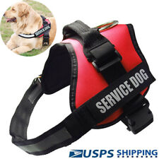Service Dog Vest Harness Reflective Vest Harness Adjustable Removable Patche Pet