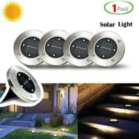4 LED Solar Power Buried Light Under Ground Lamp Outdoor Path 1 Way Pc B0S2