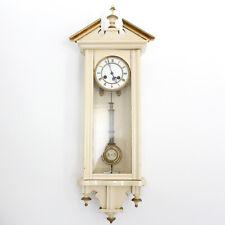 Antique Vienna Wall Clock Painted Northern European Gustavian Biedermeier