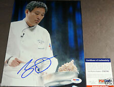 MING TSAI Signed 8x10 Cooking Photo Auto PSA/DNA Certified Autograph Iron Chef