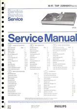 Philips Original Service Manual für TAP 22 RH 847