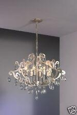 LED Kristall - Deckenleuchte Viacenza 8 flammig Metall silber antik, Kristalle