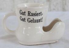 """RAR: Antiker Rasierbecher mit Spruch """"Gut Rasiert-Gut Gelaunt"""""""
