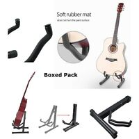 NEW FOLDABLE FOLDING GUITAR STAND A-FRAME MUSIC FLOOR ELECTRIC ACOUSTIC BASS