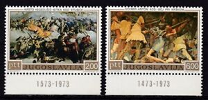 YUGOSLAVIA #1126-1127 MNH PAINTINGS OF BATTLES OF STUBICA & KRSKO WITH DATE