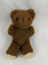 "Vintage Eden Bear Plush Brown Rattle 7.5"" Stuffed Animal"