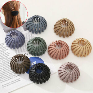 Bird's Nest Hair Tie Glossy Colorful Bun Hair Claw Horsetail Buckle Hair Clip