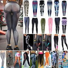 Damen Yoga Training Gym Leggings Sport Hose Athletische Hosen Jogger Tights Neu