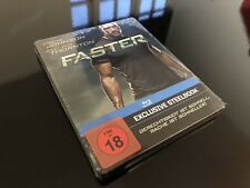 FASTER - GERMANY 1ST EDITION BLU-RAY STEELBOOK * NEW & SEALED! * Dwayne Johnson
