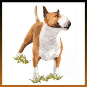Embroidered Long-Sleeved T-shirt - Bull Terrier BT7057  Sizes S - XXL