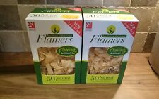 Flamers 2 Packs 50 Natural Firelighters for Stoves,BBQ,Fireplaces