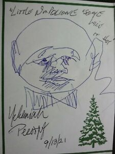 NEHEMIAH PERSOFF Authentic Hand Signed & HAND SKETCH 4X5 - PAINTER & ACTOR