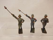 MES-57773Alte 3 St. Lineol Soldaten H:ca.70mm für Bastler/Ersatzteil