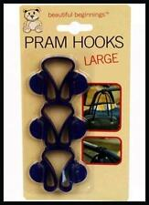3 PRAM SHOPPING BAG CLIPS HANGERS HOOKS BUGGY PUSHCHAIR PUSH CHAIR BABY STROLLER