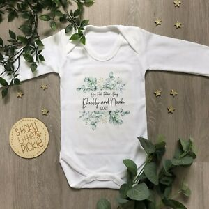 Personalised 1st Father's Day baby grow babygrow sleepsuit first fathers day - 1