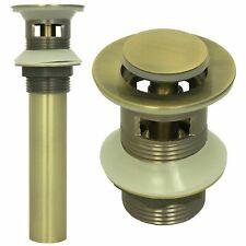 Ablaufgarnitur Waschbecken mit Überlauf Ablaufventil Waschtisch Abfluss Bronze