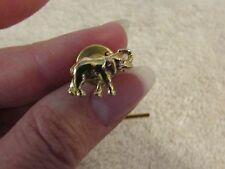 Vintage Antique Retro Tie Pin Tack Gold Tone Elephant
