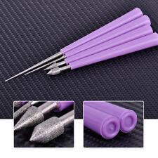 New 4x Diamond Pearl Glass Bead Reamer Burr Beading Hole Tool Set DIY Jewelry