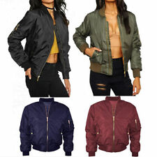 Hip Length Cotton Bomber Coats & Jackets for Women