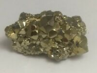 Gorgeous pyrite crystal cluster specimen, Peru 33.5 grams!!!  AAA fools gold!!!