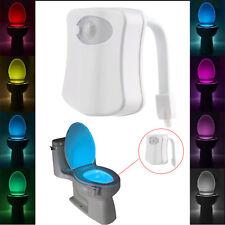 8 Colors Magic Sensor Motion Activated LED Night Light Toilet Seat Lighting Lamp