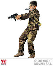 Childrens Soldier Fancy Dress Costume Rambo Military Army Outfit 128Cm