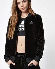 MEDIUM  adidas Women's  VELVET VIBES SUPERSTAR TRACK JACKET  US:8  BLACK  LAST1