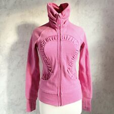 New listing Lululemon Sparkle Cuddle Up Jacket Size 4 Paris PINK Limited Edition Scuba Zip