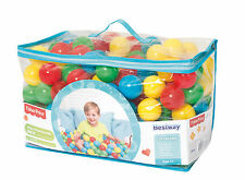 Bestway Fisher Price Small Plastic Multi-Colored Play Balls, 200 Count | 93512E