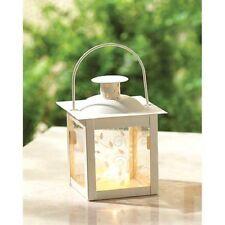 10 Ivory Mini Lantern Small Candleholder Wedding Centerpieces