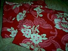 Pottery Barn euro pillow shams maroon with white flowers