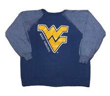 Vintage 1990s Hanes West Virginia University Logo Bleached Sweatshirt Size Large