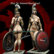 1/24 Ancient Sexy Female Warrior Figure Model Unpainted Garage Kits Unassembled