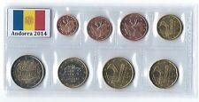 Andorra 2014 euro set 8 coins 1 cent to 2 euro tira serie de 8 valores KMS BU €