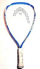 "🔥Euc🔥 Head Nano-Titanium Ti. Crush Ultra Blue Racquetball Racquet 3 5/8"" #0803"