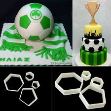 Football Cake Hexagon Pentagon Cutters Fondant Cake Mold Decorating Tools DIY