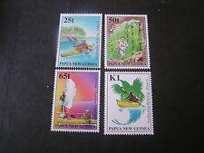 PAPUA NEW GUINEA, SCOTT # 948-951(4),1998 COMPLETE SET SEA KAYAKING ISSUE MNH