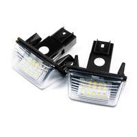 2 X LED Éclairage Plaque D'Immatriculation Peugeot Citroen Plug&play Module