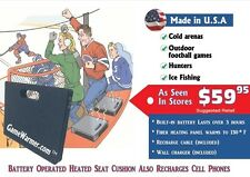 GameWarmer™- Rechargeable Battery Operated Heated Stadium Seat Cushion 5+ hours