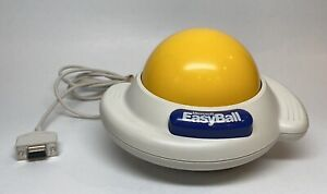 Microsoft Easy Ball V 1.0 Trackball Serial Connector 9-pin Mouse Untested Clean