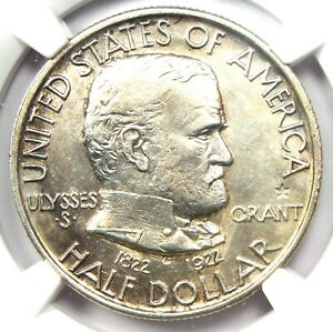 1922 Grant with Star Half Dollar 50C Coin - NGC AU Details - Rare Star Variety!