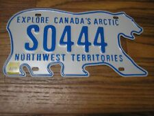 MINT 2011 Issue Northwest Territories Polar Bear G License Plate