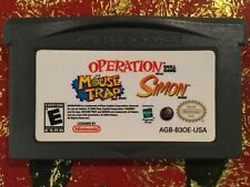 Operation +Mouse Trap+ Simon  Nintendo Gameboy ADVANCE GBA Tested AUTHENTIC
