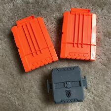 Nerf N-Strike Elite Dart Double Clip Magazine Holder with 2 - 6 round Clips
