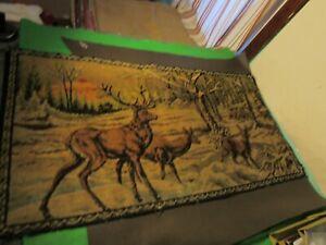 """Vintage DEER Tapestry 19"""" x 37"""""""