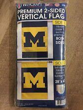 "WinCraft Deluxe Vertical Banner Flag College Michigan UofM M Logo Big10 28""x40"""